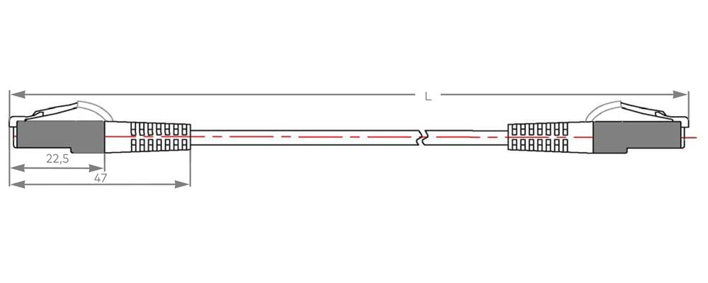 cu - patchkabel  serie e sylink500  cat 6a    500 mhz