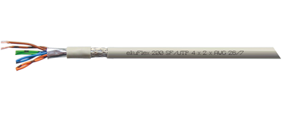 ekuFlex 200, Anschlusskabel, Cat. 5/5e, SF-UTP J-02YS(St)CH ...