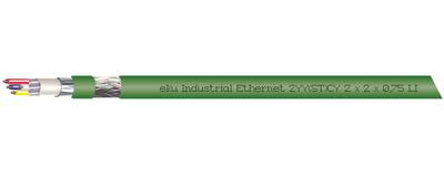 Industrial Ethernet, 2YY(ST)CY 2x2x0,75/1,5-100 LI GN VZN