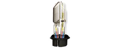 LWL - Haubenmuffe, vorkonfektioniert für 10/6 mm Röhrchen mit Corning MAX® Fasermanagement