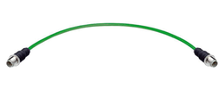 Profinet Anschlusskomponenten, HAN® M12 Systempatchkabel Cat.5, 4-adrig, D-Kodierung