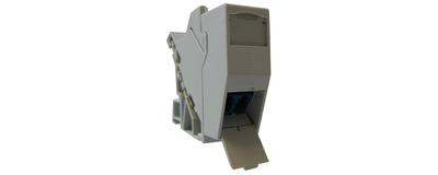 LWL - Glasfaserverteiler, 35 mm LWL - Hutschienenadapter