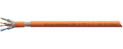 ekuLan HighSpeed 1200, LSOH-3 Installationskabel, Cat. 7, S-FTP J-02YSCH ...
